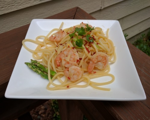 Lemon Shrimp with Pasta